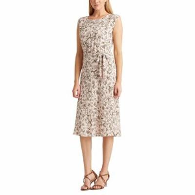 ラルフローレン レディース ワンピース トップス Petite Floral Georgette Dress Pink Multi