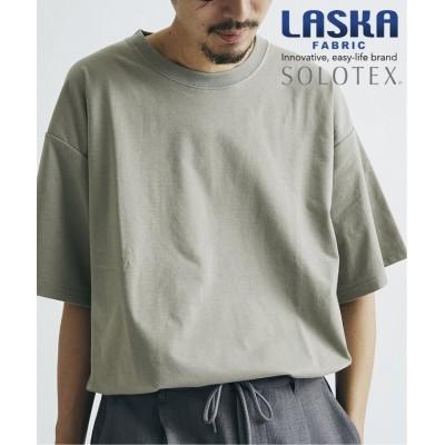 (JOURNAL STANDARD/ジャーナルスタンダード)【WEB限定】【LASKA × SOLOTEX】PLATE クルーネック Tシャツ/ユニセックス カーキ