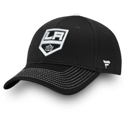 ユニセックス スポーツリーグ ホッケー Los Angeles Kings Fanatics Branded Depth Alpha Adjustable Hat - Black - OSFA 帽子