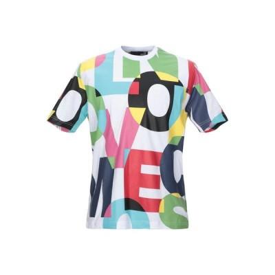 ラブモスキーノ LOVE MOSCHINO  メンズ Tシャツ カットソー トップス ホワイト