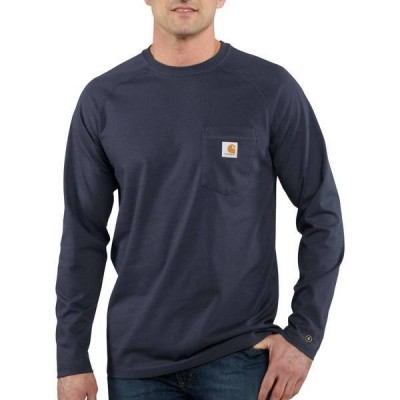 カーハート メンズ シャツ トップス Carhartt Men's Force Cotton Delmont Long Sleeve T-Shirt