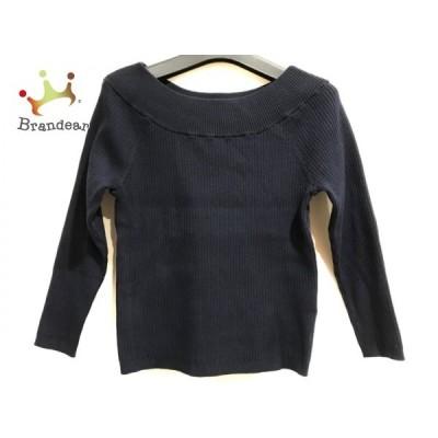 ジャスグリッティー JUSGLITTY 長袖セーター サイズ2 M レディース 美品 ダークネイビー 新着 20200410