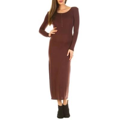 ホワイトマーク レディース ワンピース トップス Plus Size Maternity 'Penelope' Maxi Dress