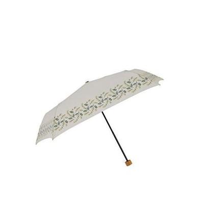 小川(Ogawa) 折りたたみ傘 雨晴兼用雨傘 手開き 55cm 5本骨 tenoe/Nature ミモザのブーケ UV加工 鳥型飾りボタン付き 92