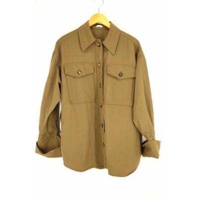 リト RITO WORKSHIRT WITH BIGDOUBLE CUFFS ビッグダブルカフスワークシャツジャケット レディ 中古 210224