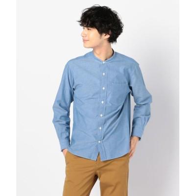 【ノーリーズ】 バンドカラーシャツ メンズ ブルー S NOLLEY'S