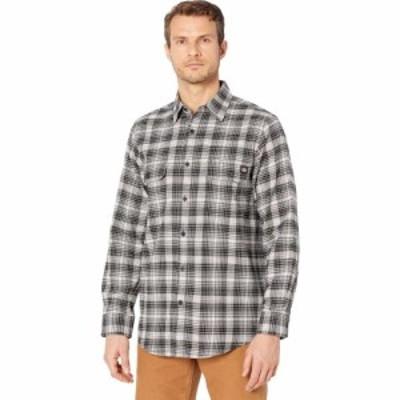 ディッキーズ Dickies メンズ シャツ フランネルシャツ トップス Flex Flannel Long Sleeve Shirt Regular Cream/Smoke Plaid