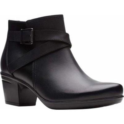 クラークス レディース ブーツ・レインブーツ シューズ Emslie Cyndi Ankle Bootie Black Leather