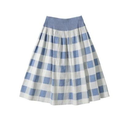 スカート ブロックチェックJQ