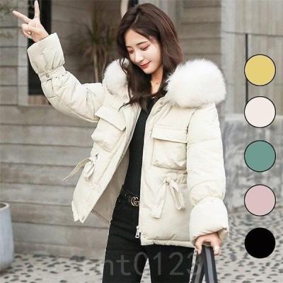 ダウンコートレディース40代ダウンジャケットコートゆったりおしゃれファーコート韓国風アウター冬服OL通勤5色フードつき
