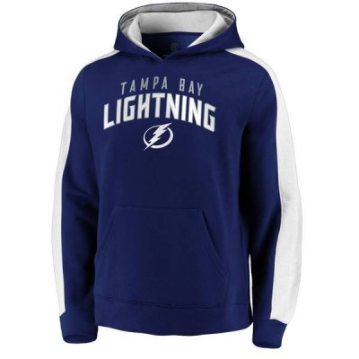 ファナティクス メンズ パーカー・スウェット アウター NHL Men's Tampa Bay Lightning Gameday Arch Blue Pullover Sweatshirt