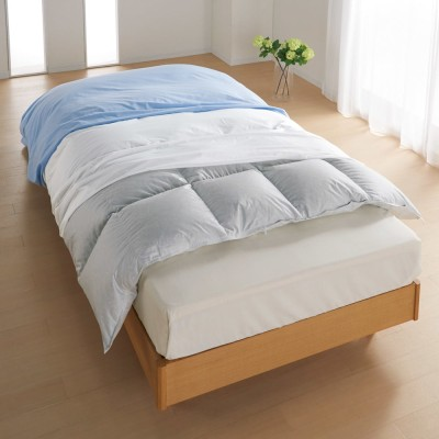 ミクロガード(R)防ダニ用寝具プロテクター 掛け布団用 シングル ホワイト