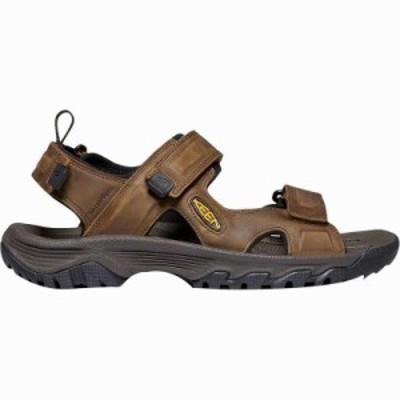 (取寄)キーン メンズ ターギー 3 オープン トー サンダル KEEN Men's Targhee III Open Toe Sandal Bison/Mulch