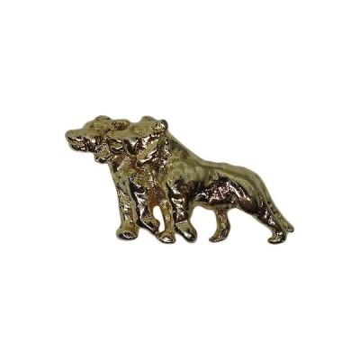 2頭の犬 ピンズ 動物 ピンバッチ ピンバッジ 金色 ラペルピン