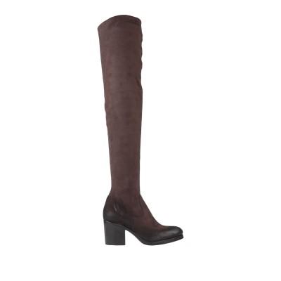 ストラテジア STRATEGIA ブーツ ダークブラウン 36 紡績繊維 ブーツ