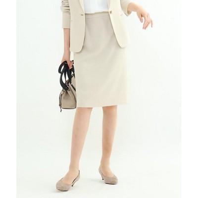 <INDIVI S(Women)/インディヴィS> 小さいサイズ 「S」エレコフツイルタイトスカート ベージュ【三越伊勢丹/公式】