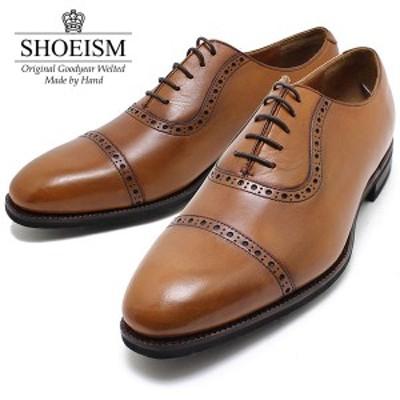 SHOEISM シューイズム 8307 ストレートチップ アデレード 軽量グッドイヤーモデル BROWN ビジネス/ドレス/紐靴/革靴/メンズ