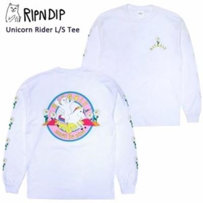 リップンディップ(RIPNDIP) Unicorn Rider L/S Tee 《White》 メンズ 長袖 Tシャツ/ロンT【20】 [AA]