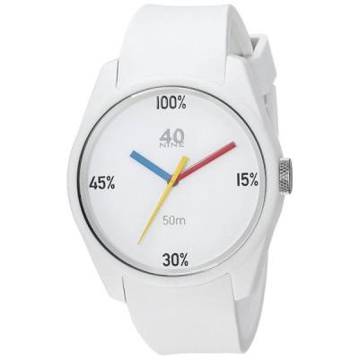 40?Nine Men 's ' Eclectic ' QuartzプラスチックとシリコンCasual Watch, Color : White (M