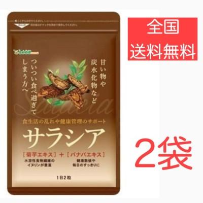 【2袋セット】シードコムス サラシア 菊芋エキス バナバエキス 配合 サプリメント ダイエット 約3ヶ月分 180粒