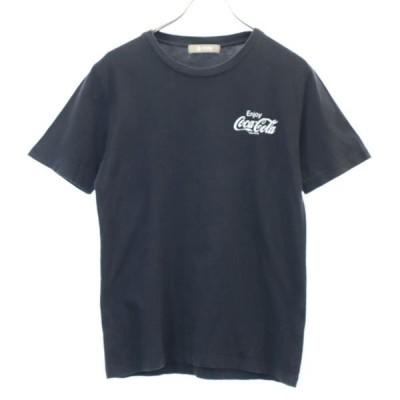 ナノユニバース × コカコーラ 半袖 Tシャツ S ブラック nano universe コラボ メンズ 古着 200429 【Pdown】  wg5-0703