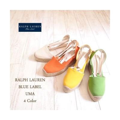 【SALE】【OUTLET】【SALE】【BLUE LABEL by Ralph Lauren】 ラルフローレン UMA エスパドリーユ サンダル/4色