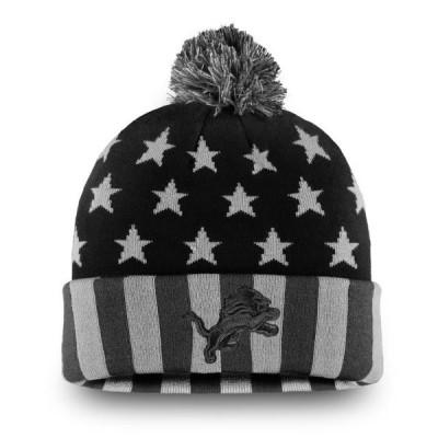 ユニセックス スポーツリーグ フットボール Detroit Lions NFL Pro Line by Fanatics Branded Americana Stars and Stripes Cuffed Knit Ha