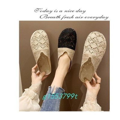 サンダルレディーススリッパサンダルミュール歩きやすいつっかけバブーシュおしゃれ靴シューズカジュアル美脚
