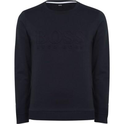 ヒューゴ ボス BOSS メンズ スウェット・トレーナー トップス Hertitage Logo Crew Sweatshirt Navy