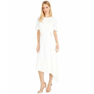 テッドベーカー レディース ワンピース トップス Asymmetric D Ring Detail Dress White