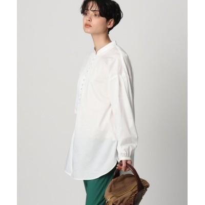 【ドレステリア】 ボタンチュニックシャツ レディース ホワイト 38(M) DRESSTERIOR