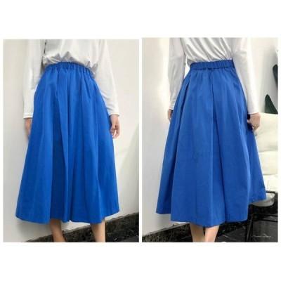 新作 素敵なカジュアルロング スカート シンプル Mサイズ デート 体型カバー cr01382