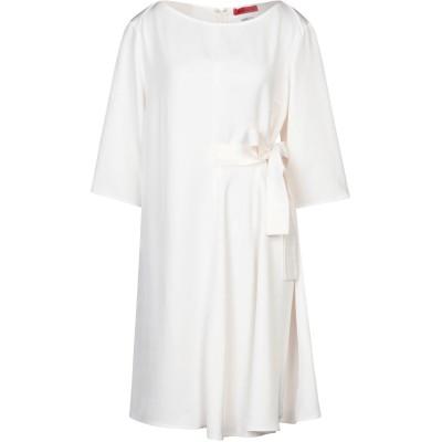 MAX & CO. ミニワンピース&ドレス アイボリー 46 トリアセテート 100% ミニワンピース&ドレス