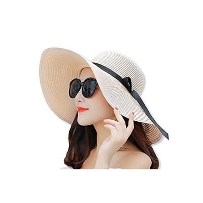 WHITE FANG(ホワイトファング) 麦わら 帽子 ハット セレブ 折りたたみ つば広 紫外線 UV 日よけ レディース CA113 (03:ピン