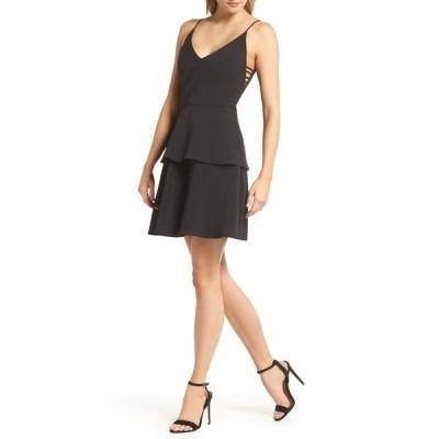 アドレイン ラエ レディース ワンピース トップス Tamika Sleeveless Fit & Flare Dress BLACK