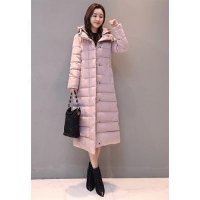 韓国ファッション ロングセクション 暖かい 厚手 綿入れダウンコート