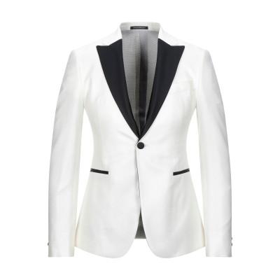 エンポリオ アルマーニ EMPORIO ARMANI テーラードジャケット アイボリー 46 レーヨン 100% / シルク / ポリエステル テー
