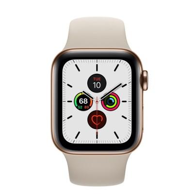 AppleWatch Series5(GPS+Cellularモデル)- 40mmゴールドステンレススチールケースとストーンスポーツバンド [整備済製品] - Apple FWX62J/A