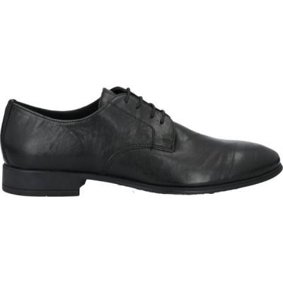 ALBUSCERI メンズ シューズ・靴 laced shoes Black