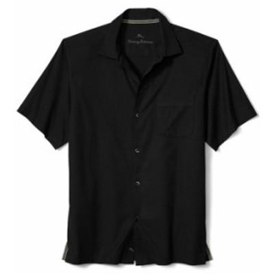 トッミーバハマ メンズ シャツ トップス Big & Tall Catalina Stretch Twill Short-Sleeve Woven Shirt Black