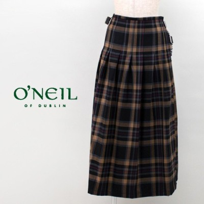 O'NEIL OF DUBLIN オネイル/オニールオブダブリン レディース プリーツキルトロングスカート(NOD0853)(BASIC)