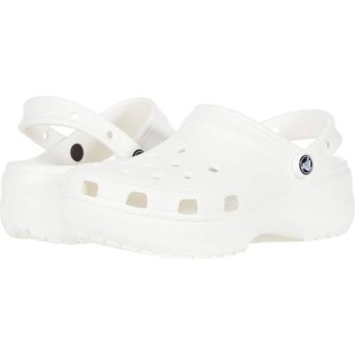 クロックス Crocs レディース クロッグ シューズ・靴 Classic Platform Clog White