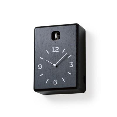 Lemnos レムノス CUCU ブラック LC10-16 BK カッコー時計 掛け時計 置き時計  カッコー時計 鳩時計 からくり時計 掛け置き 壁