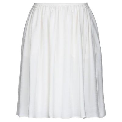 ジョルジオ アルマーニ GIORGIO ARMANI ミディスカート ホワイト 46 レーヨン 68% / シルク 32% ミディスカート