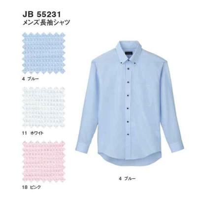 jb55231 メンズ長袖シャツ (サンエス)  M〜5L ワッフル 綿55% ポリエステル45%