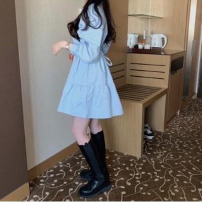 人気ワンピースv-k096c-0602 春夏新作 レディース/無地/優雅/カワイ