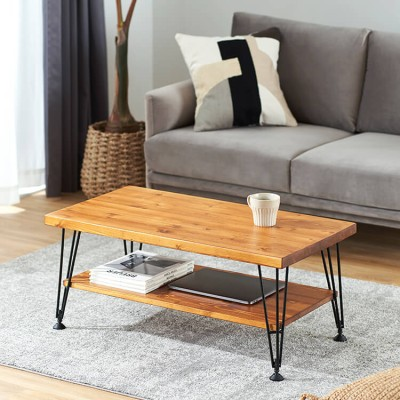 [幅85] センターテーブル 木目調 ローテーブル  天然木 木製 収納 ヴィンテージ