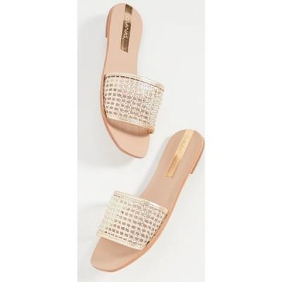 カーナス KAANAS レディース サンダル・ミュール シューズ・靴 pipa braided net slides Gold
