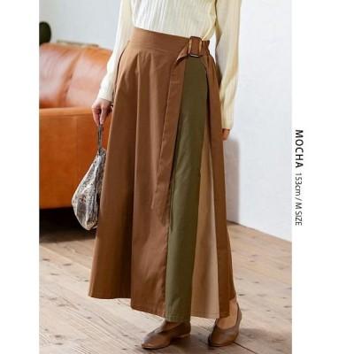(GROWINGRICH/グローウィングリッチ)[ボトムス スカート]マルチカラー配色スカート[190943]/レディース モカ