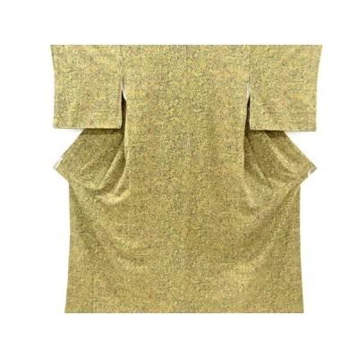 リサイクル 異国人物に動物更紗模様小紋着物